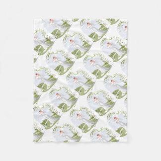 Romantic Bride in the Nature Fleece Blanket