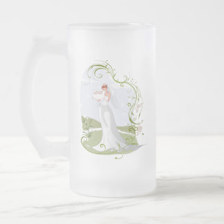 Romantic Bride in the Nature Frosted Glass Beer Mug