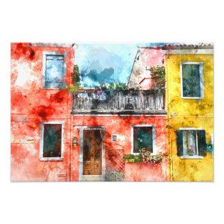 Romantic Burano Italy near Venice Italy Photo Print