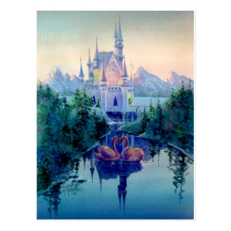 ROMANTIC CASTLE by SHARON SHARPE Postcard