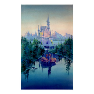 ROMANTIC CASTLE by SHARON SHARPE Poster