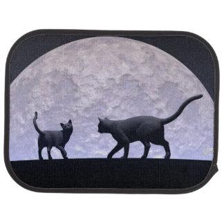 Romantic cats car mat