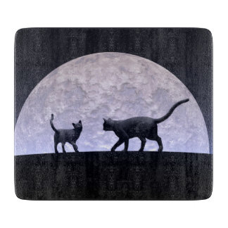 Romantic cats cutting board