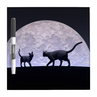 Romantic cats dry erase board