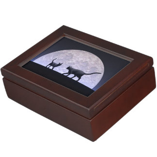 Romantic cats keepsake box