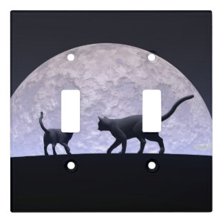 Romantic cats light switch cover