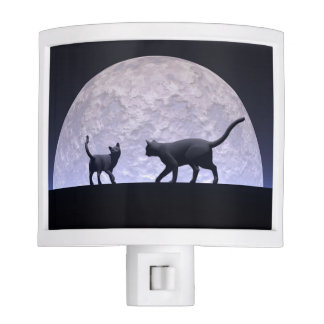 Romantic cats night light