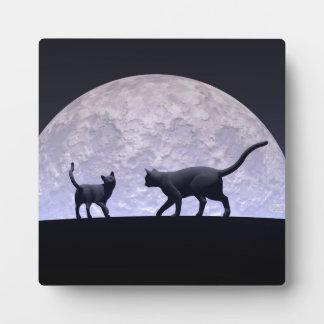 Romantic cats plaque