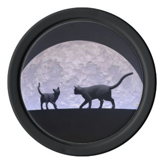 Romantic cats poker chips