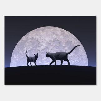 Romantic cats sign