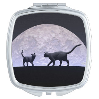 Romantic cats vanity mirror