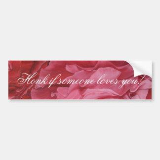 Romantic chic red love roses bumper sticker
