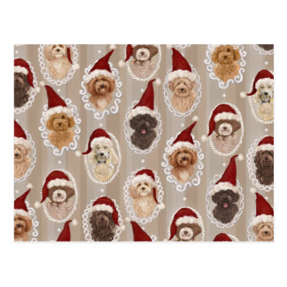 Romantic Christmast Detailed Dog Painting Card