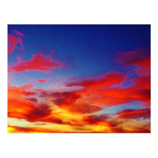 Romantic Clouds Postcard