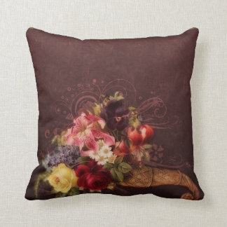 Romantic Cornucopia Throw Pillow