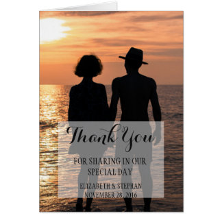 Romantic Couple Holding Hands at Sunset/Thank You Card