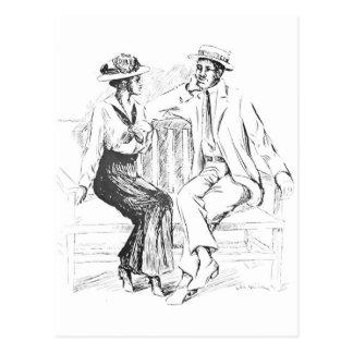 Romantic Couple Postcard
