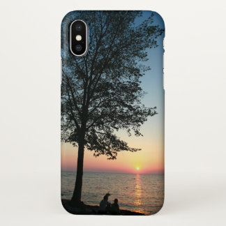 Romantic Couple Sunset Beach iPhone X Case