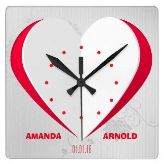 Romantic Cutout Heart Background Wall Clock