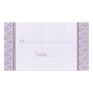 Romantic Damask Wedding Placecard, Lavender Business Card Templates