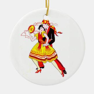 Romantic Dancers Ceramic Ornament