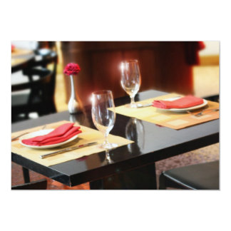 """Romantic Dinner for Two 5"""" X 7"""" Invitation Card"""