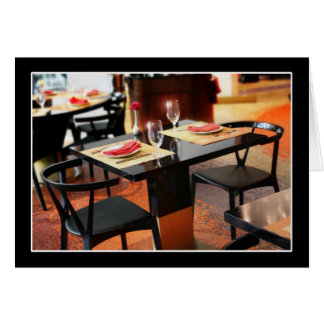 Romantic Dinner for Two Card