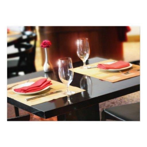 Romantic Dinner for Two Custom Announcement