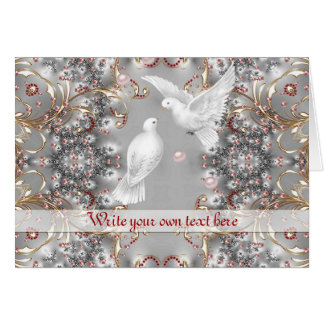 Romantic Doves in Love for Wedding - Anniversary Card