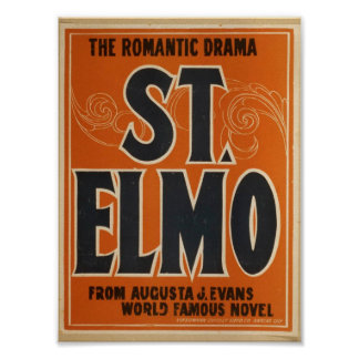 Romantic drama, 'St. Elmo' Vintage Theater Poster