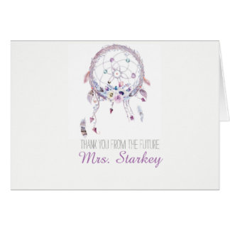 Romantic Dreamcatcher Boho Thank You Card