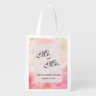 Romantic Dreamy Blossom Wedding Reusable Grocery Bag
