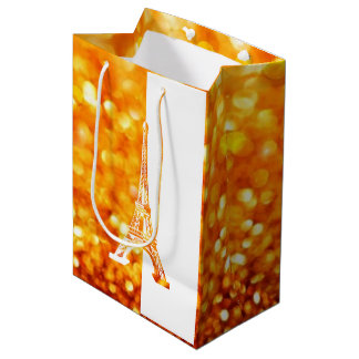Romantic Eiffel Tower Medium Gift Bag