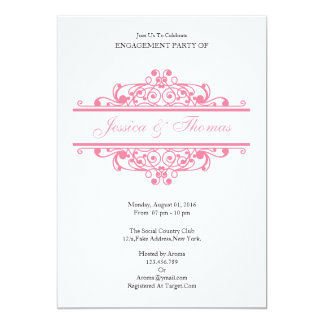 Romantic Engagement Party Invitation Card