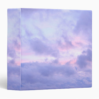 Romantic Evening Sky 3 Ring Binders