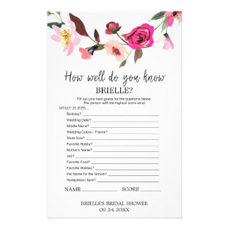 "Romantic Fairytale ""Do You Know The Bride"" Game Personalized Flyer"