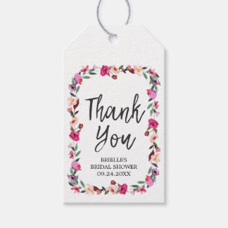 Romantic Fairytale Wreath Bridal Shower Thank You Pack Of Gift Tags