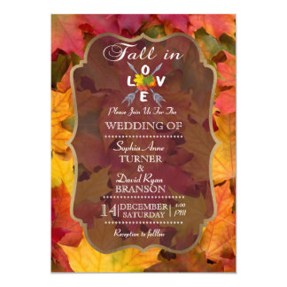 Romantic Fall in Love Wedding Invitation