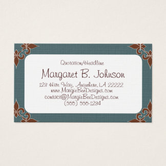Romantic Fleur de Lis Business Cards