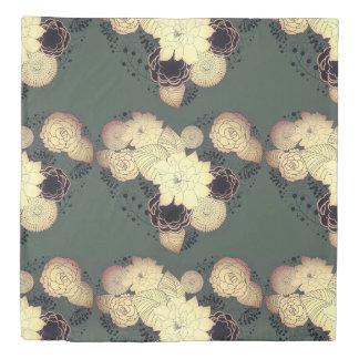 Romantic Floral Blooms Duvet Cover