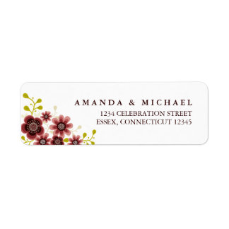 Romantic Floral Bouquet Address Label