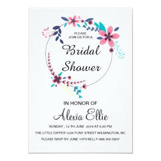 romantic floral bridal shower card