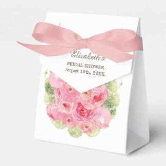 Romantic Floral Design Bridal Shower Favor Boxes