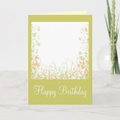 Romantic Floral Design - Happy Birthday Greeting Card a