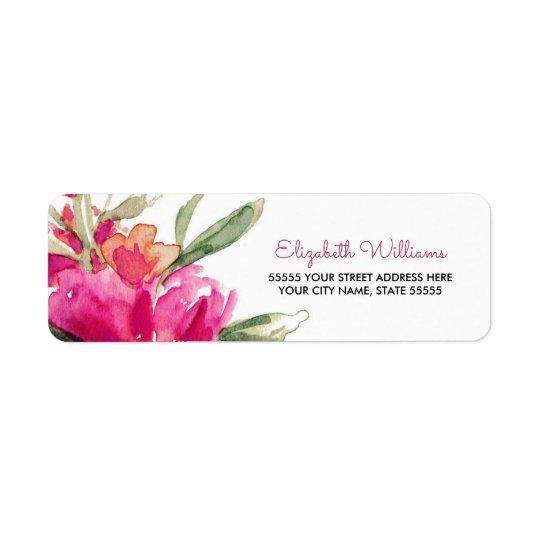 Romantic Floral Design Return Address Labels