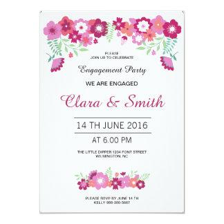 Romantic Floral Engagement Card