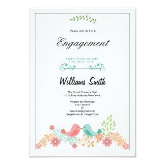 Romantic Floral Engagement Party Invitation