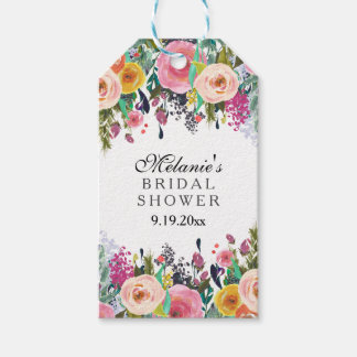 Romantic Floral Garden Bridal Shower Gift Tags