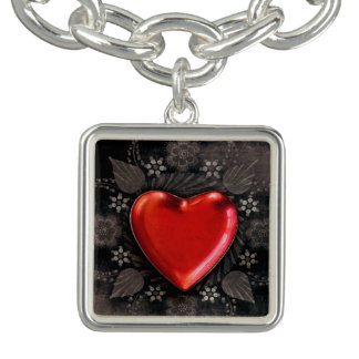 Romantic Floral Heart Valentine Love Bracelets