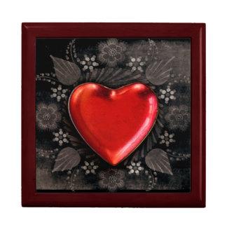 Romantic Floral Heart Valentine Love Gift Box